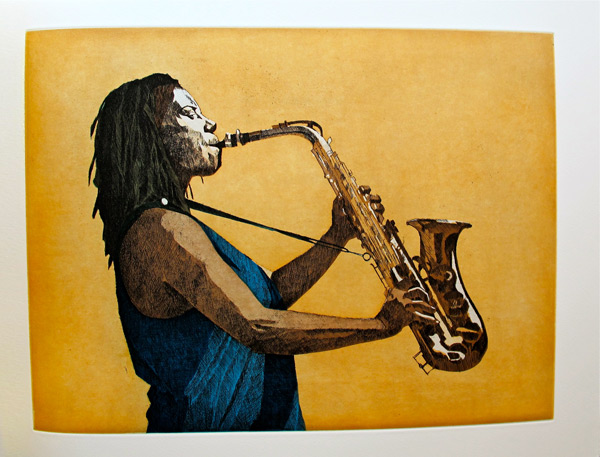 Colored Etching by Dean Mitchell