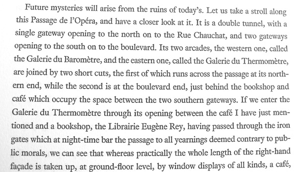 Description of the Passage de l'Opera