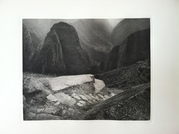 Photogravure of Macchu Picchu