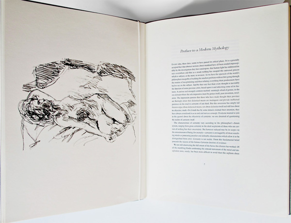 Preface (beginning) and print of Henri Cartier-Bresson drawing