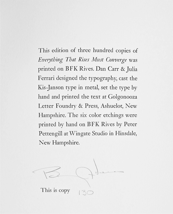 Colophon Page