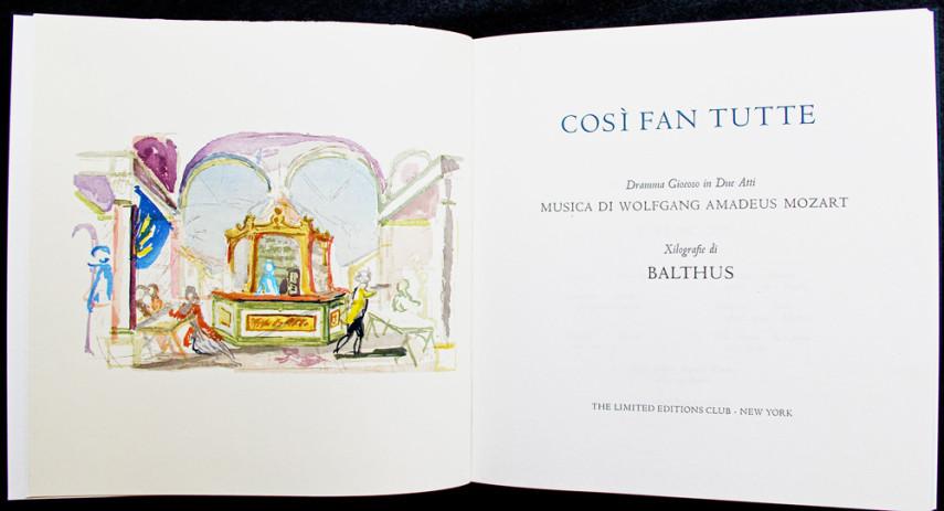 Cosi Fan Tutte Title-Page